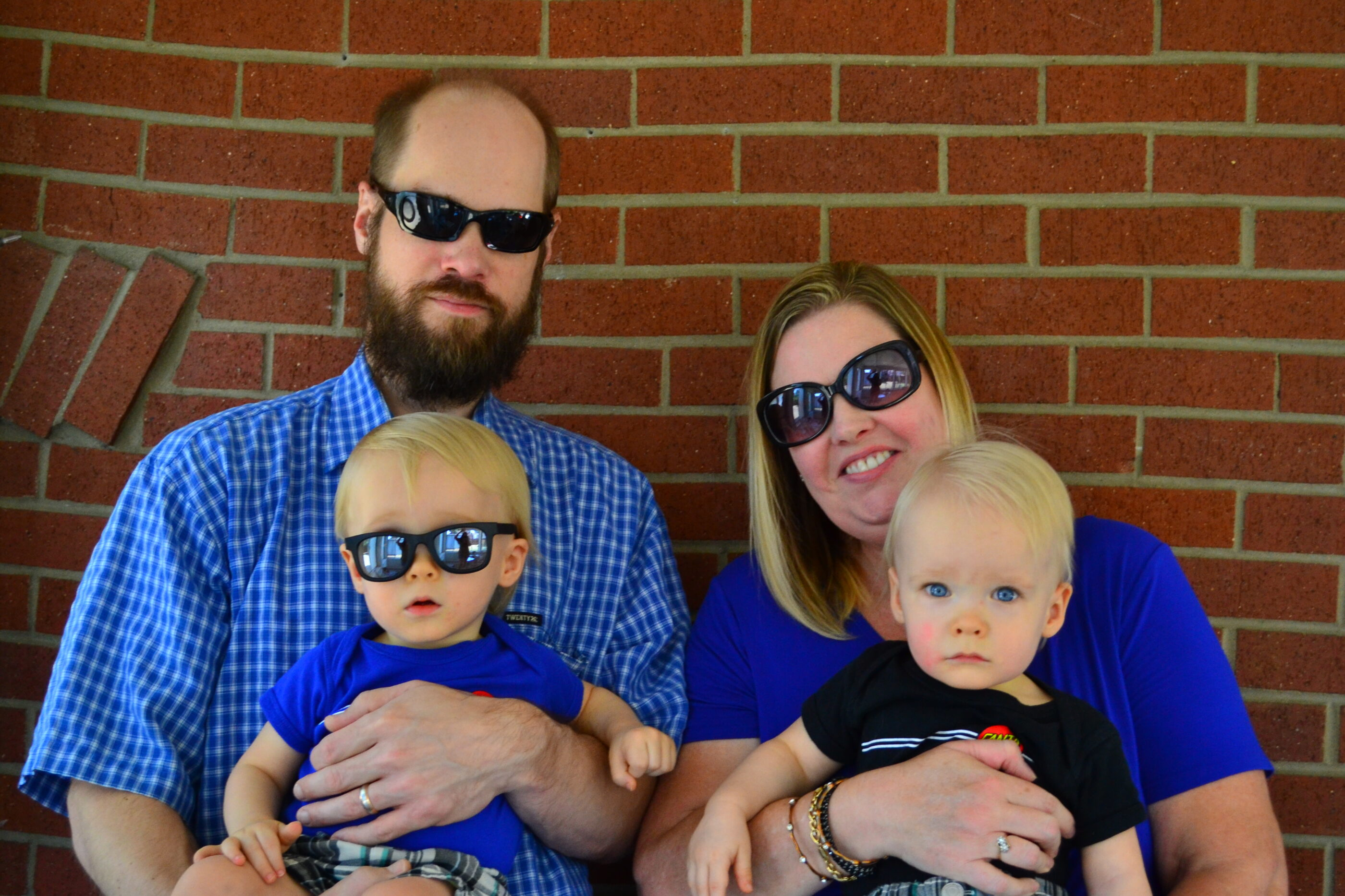 Family Photo with Sunglasses