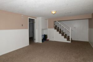 Before photo of the basement