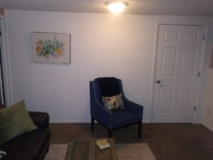 After photo of the wall and door that our handyman built.  On the guest side of the short term rental.